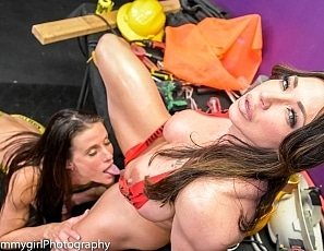 SofieMarieXXX/Hard Work Construction Tape Duo2